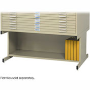 Optional High Base for 10 Drawers Steel Flat Files - Sand