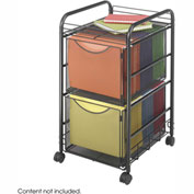 Safco® Onyx™ 5212 Mesh File Cart with 2 File Drawers - Black