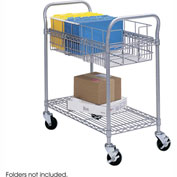 "Safco® 5235 Wire Mail Cart 24""W"