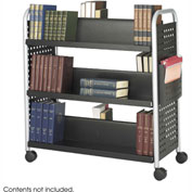 Safco® 5335 Double Sided 6 Shelf Book Cart