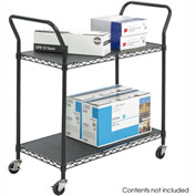 Safco® 5337 2 Shelf Black Wire Utility Cart