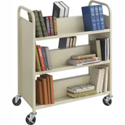 Safco® 5357SA Steel Shelf Double-Sided 6-Shelf Book Cart