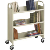Safco® 5358SA Steel 3-Shelf Single-Sided Book Cart