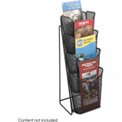 Mesh 4 Pocket Pamphlet Display - Black
