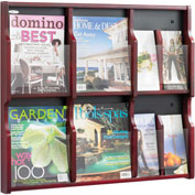 Expose 6 Magazine 12 Pamphlet Display - Mahogany/Black