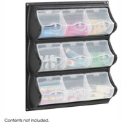 Safco 6110BL 9 Pocket Panel Bins - Black