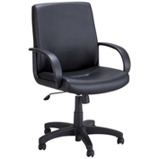 Safco® Poise® Executive Mid Back Chair - Black Vinyl