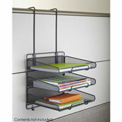 Safco® Onyx™ Panel Organizer Triple Tray
