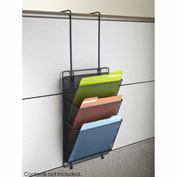 Safco® Onyx™ Panel Organizer Triple Basket