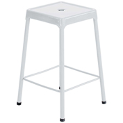 Safco® Steel Stool Standard Height - White