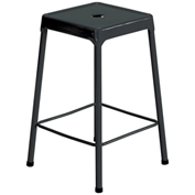 "Safco® Steel Stool 25"" Counter Height - Black"