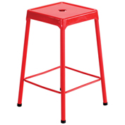 "Safco® Steel Stool 25"" Counter Height - Red"