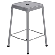 "Safco® Steel Stool 25"" Counter Height - Silver"