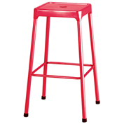 "Safco® Steel Stool 29"" Bar Height - Red"
