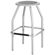 Safco® Diesel Adjustable Height Stool - Silver