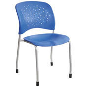 Safco® Reve™ Guest Chair Straight Leg with Round Back - Lapis - 2 Pack