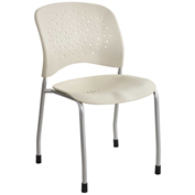 Safco® Reve™ Guest Chair Straight Leg with Round Back - Latte - 2 Pack