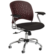 Safco® Reve™ Task Chair with Square Back - Mahogany
