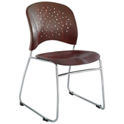 Safco® Reve™ Guest Chair Sled Base with Round Back - Mahogany - 2 Pack
