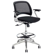 Safco® Reve™ Extended Height Mesh Back Fabric Task Chair - Black