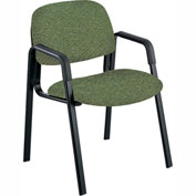 Cava Urth Straight Leg Guest Chair, Green Fabric