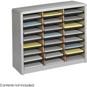 24 Compartment Economy Literature Organizer - Gray