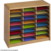 24 Compartment Economy Literature Organizer - Medium Oak
