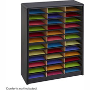 36 Compartment Economy Literature Organizer - Black