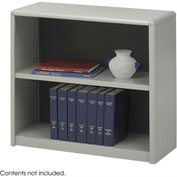 2-Shelf Economy Bookcase - Gray