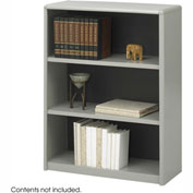 3-Shelf Economy Bookcase - Gray