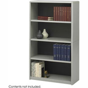 4-Shelf Economy Bookcase - Gray
