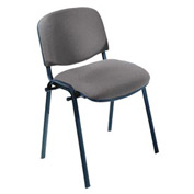 Visit Upholstered Stacking Chairs (Qty. 2) - Black / Gray