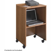 Podium / Lectern Base / Media Cart - Medium Oak