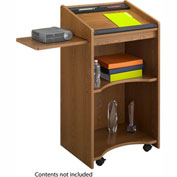 Executive Mobile Podium / Lectern - Medium Oak