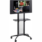 Safco® Impromptu® Flat Panel TV Cart, Black