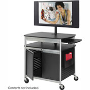 Safco® Flat Panel Multimedia Cart - Cabinet Base