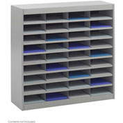 36 Compartment Steel Literature Organizer - Gray