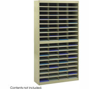 72 Compartment Steel Literature Organizer - Sand