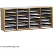 Wood Adjustable Literature Organizer, 24 Compartment
