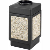 Canmeleon™ Aggregate Panel, Top Open, 38 Gallon Black - 9471NC