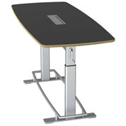 """Focal™ Confluence 6 Height Adjustable Conference Table - 78"""" x 34"""" - Black"""