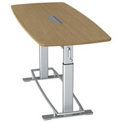 "Focal™ Confluence 6 Height Adjustable Conference Table - 78"" x 34"" - White Oak"