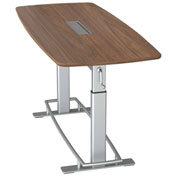 "Focal™ Confluence 6 Height Adjustable Conference Table - 78"" x 34"" - Black Walnut"
