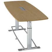 """Focal™ Confluence 6 Height Adjustable Conference Table - 94"""" x 36"""" - White Oak"""