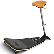 Safco® Locus™ Active Sit-Stand Stool with Anti-Fatigue Mat - Citrus - Focal™ Series