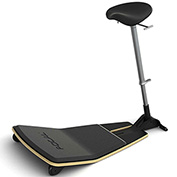 Safco® Locus™ Active Sit-Stand Stool with Anti-Fatigue Mat - Nubuck - Focal™ Series