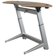 "Focal™ Sphere Height Adjustable Sit-Stand Desk - 78"" x 30"" - Black Walnut"