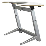 "Focal™ Sphere Height Adjustable Sit-Stand Desk - 78"" x 30"" - Glacier White"