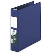 "Antimicrobial Locking Round Ring Binder For 11 X 8-1/2, 2"" Cap., Dark Blue"