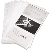 """Samsill® Business Card Binder Refill Pages 81079, 2"""" x 3-1/2"""", Clear, 10/Pack"""